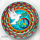 Decorative plate 'a Symbol of Love and Peace' hand-painted, Plates, Krasnodar,  Фото №1