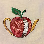 """Для дома и интерьера ручной работы. Ярмарка Мастеров - ручная работа Салфетка """"Яблочный чай"""". Handmade."""
