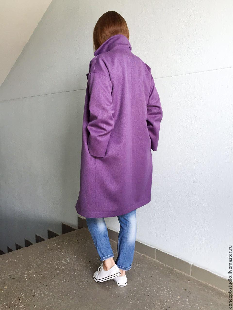 215f346306f ... Верхняя одежда ручной работы. Демисезонное пальто фиолетовое. Соломина  Татьяна (concept-studio) ...