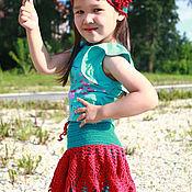 Работы для детей, handmade. Livemaster - original item Set of skirt-shorts and a summer hat. Handmade.