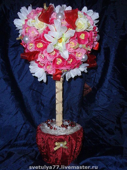 """Топиарии ручной работы. Ярмарка Мастеров - ручная работа. Купить Топиарий """"Сердце"""". Handmade. День Святого Валентина, комбинированный, текстиль"""