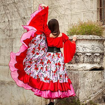 """Одежда ручной работы. Ярмарка Мастеров - ручная работа Цыганская юбка """"Белая ночь"""". Handmade."""