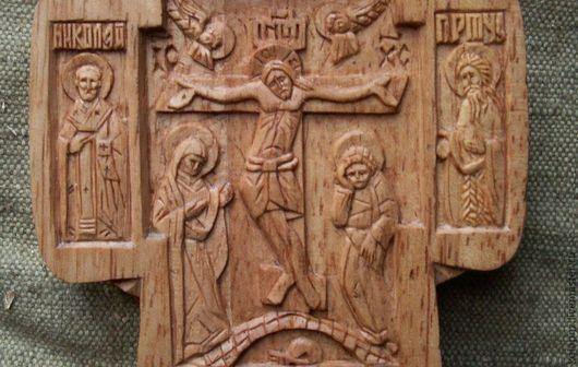 Иконы ручной работы. Ярмарка Мастеров - ручная работа. Купить Крест мощевик большой. Handmade. Православный крест, бежевый, дерево