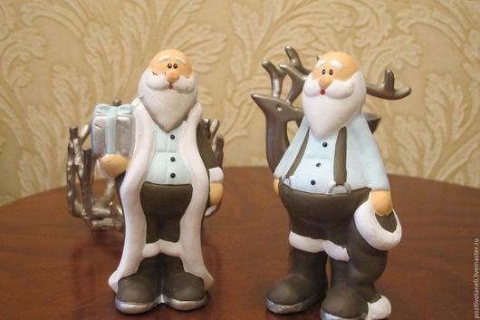 Куклы и игрушки ручной работы. Ярмарка Мастеров - ручная работа. Купить Маленький Санта-Клаус. Handmade. Голубой, новый год 2016