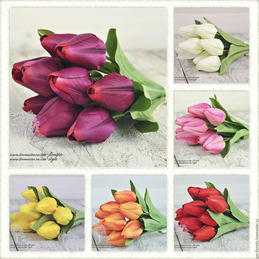 Материалы для флористики ручной работы. Ярмарка Мастеров - ручная работа. Купить Тюльпаны (6 расцветок). Handmade. Салатовый, зелень для букета