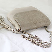 Сумки и аксессуары handmade. Livemaster - original item Beige handbag with Golden cover art. 266. Handmade.