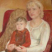 Картины и панно ручной работы. Ярмарка Мастеров - ручная работа Картина маслом ,,Мать и сын,,. Handmade.