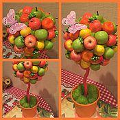 Подарки к праздникам ручной работы. Ярмарка Мастеров - ручная работа Топиарий-дерево счастья Фруктовое изобилие. Handmade.