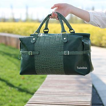 5166ffdcd0e3 Сумка кожаная женская зеленая Бонжур мадам, зеленая сумка из крокодила