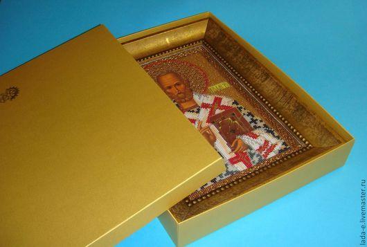 Подарочная упаковка ручной работы. Ярмарка Мастеров - ручная работа. Купить Упаковка  для иконы, для картин. Handmade. Золотой, подарок