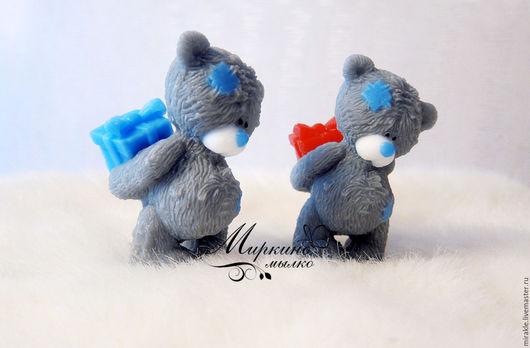 Мыло ручной работы. Ярмарка Мастеров - ручная работа. Купить Мыло Мишка с подарком. Handmade. Серый, медведь, мыло