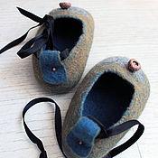 Обувь ручной работы handmade. Livemaster - original item children`s felt Slippers