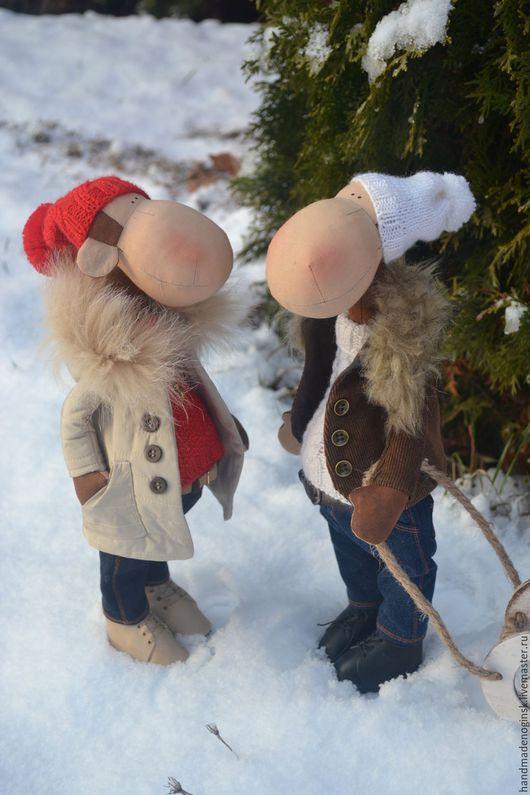 Куклы Тильды ручной работы. Ярмарка Мастеров - ручная работа. Купить Обезьянки. Handmade. Ярко-красный, обезьянки, текстильная игрушка