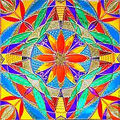 Картины и панно ручной работы. Ярмарка Мастеров - ручная работа Мандала ВДОХНОВЕНИЕ продана. Handmade.