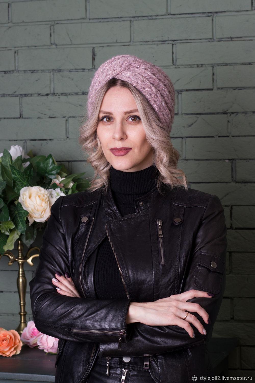 "Knitted bandage with sequins ""Winter Lavender"", Bandage, Chernogorsk,  Фото №1"