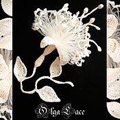 """Украшения ручной работы. Ярмарка Мастеров - ручная работа Брошь """"Фуксия"""" от Olga Lace. Handmade."""