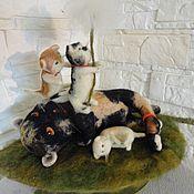 Куклы и игрушки ручной работы. Ярмарка Мастеров - ручная работа интерьерная игрушка Прекрасная Чарли- Унесённая- Одуванчиком. Handmade.