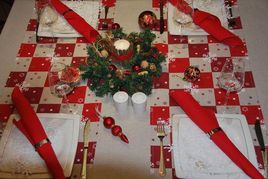Текстиль, ковры ручной работы. Ярмарка Мастеров - ручная работа. Купить Дорожка Новогодняя. Handmade. Ярко-красный, для интерьера
