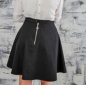 Одежда handmade. Livemaster - original item Skirt bowknot zipper the semi-circular black. Handmade.