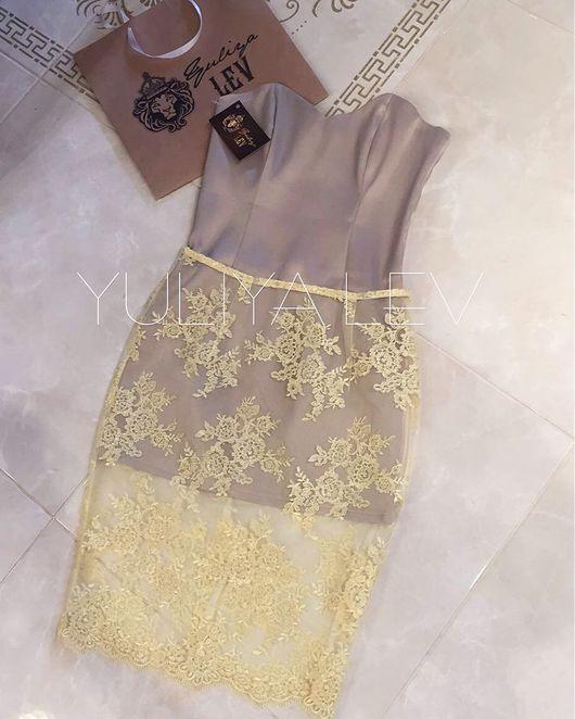 Платья ручной работы. Ярмарка Мастеров - ручная работа. Купить Платье с кружевом YULIYA LEV. Handmade. Платье, пошив на заказ