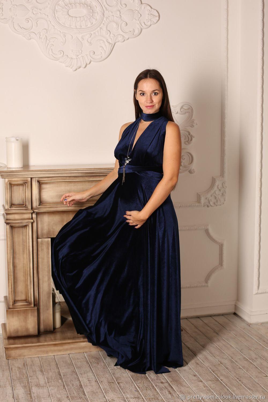 Платье-трансформер бархатное для беременных, Платья, Москва,  Фото №1