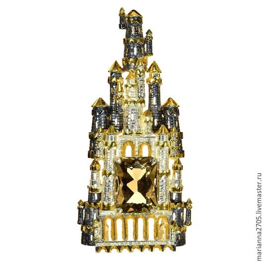 """Кулоны, подвески ручной работы. Ярмарка Мастеров - ручная работа. Купить """"Есть в мире золотые города...."""" кулон с граненым раухтопазом. Handmade."""