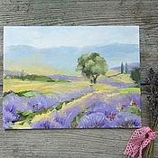 """Картины и панно ручной работы. Ярмарка Мастеров - ручная работа картина """"лавандовое поле"""". Handmade."""