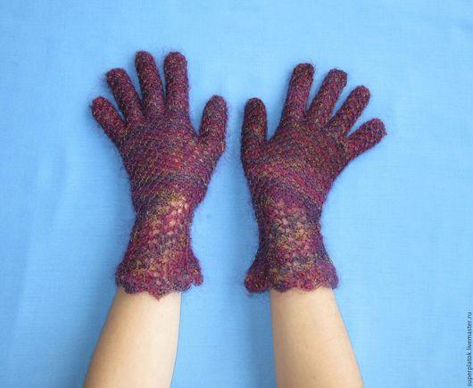 Варежки, митенки, перчатки ручной работы. Ярмарка Мастеров - ручная работа. Купить Эксклюзивные ажурные перчатки из натурального козьего пуха. Handmade.