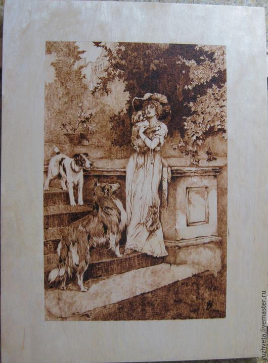 Стилизованная копия одного из мною любимых художников Arthur Wardle - Afternoon Promenad