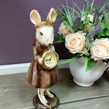 Для дома и интерьера ручной работы. Ярмарка Мастеров - ручная работа Мышка с часами. Handmade.