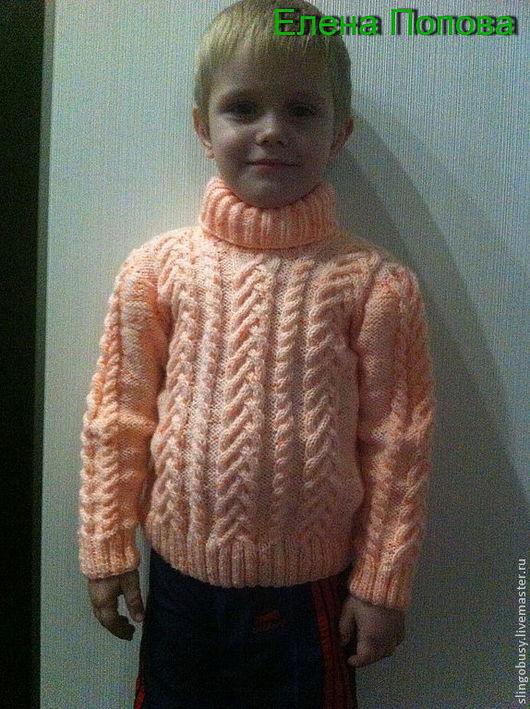 Кофты и свитера ручной работы. Ярмарка Мастеров - ручная работа. Купить Апельсиновый свитер. Handmade. Рыжий, вязание спицами, оранжевый