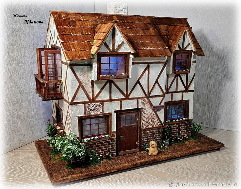 Two-story, miniature house, Doll houses, Verkhoturye,  Фото №1