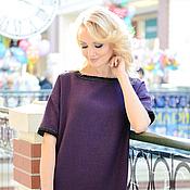 Одежда ручной работы. Ярмарка Мастеров - ручная работа Платье фиолетовое. Handmade.