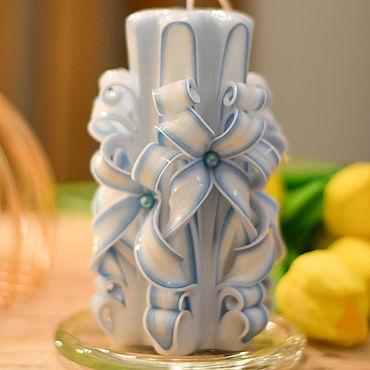 Для дома и интерьера ручной работы. Ярмарка Мастеров - ручная работа Подарок на новый год , Свеча подарок , Резная свечи ручной работы. Handmade.