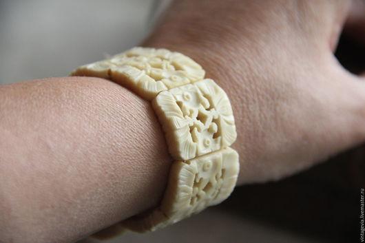 Vintage Via. Старинный браслет из натуральной кости, винтаж, прошлый век