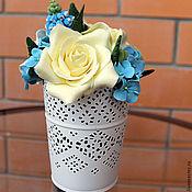 Цветы и флористика ручной работы. Ярмарка Мастеров - ручная работа Мини-букет с первоцветами. Handmade.