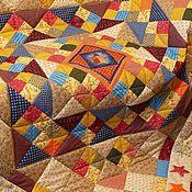 Для дома и интерьера ручной работы. Ярмарка Мастеров - ручная работа Лоскутное одеяло Ходит дрема вокруг дома пэчворк. Handmade.