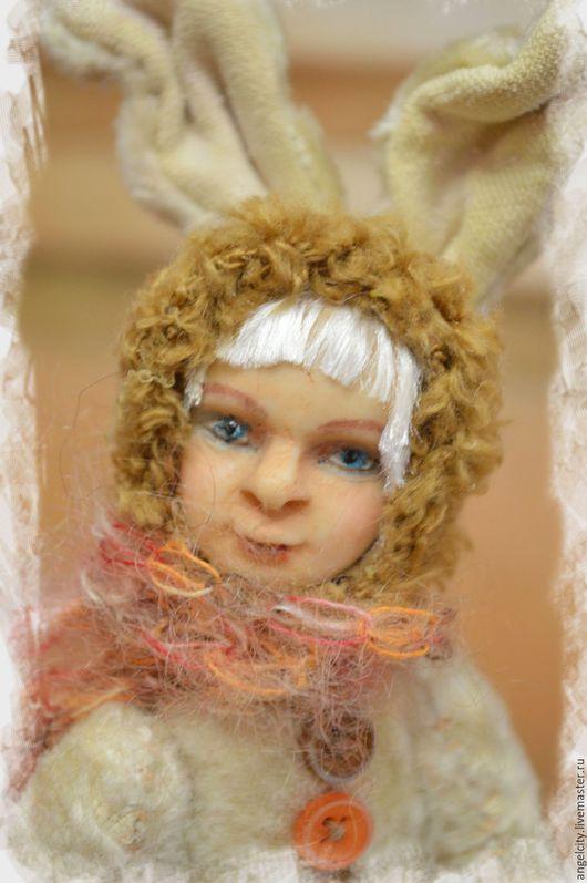 Мишки Тедди ручной работы. Ярмарка Мастеров - ручная работа. Купить Тедди долл зайка Эскимо. Handmade. Белый