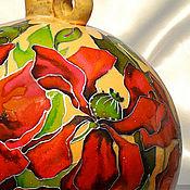 Посуда handmade. Livemaster - original item Bottle Poppies, stained glass painting on ceramics. Handmade.