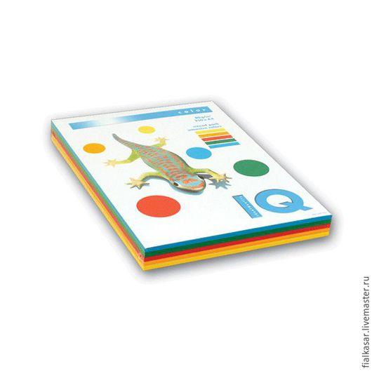 Открытки и скрапбукинг ручной работы. Ярмарка Мастеров - ручная работа. Купить Бумага цветная Mix 160 г/м2 интенсив 5 цветов А4 для скрапбукинга. Handmade.