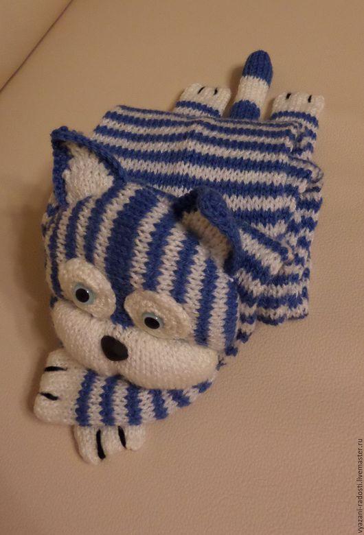 Тёплый шерстяной шарфик для Вашего ребёнка. Матроскин не только согреет, но и станет настоящим другом.