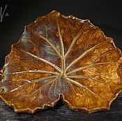 Посуда handmade. Livemaster - original item Ceramic leaf