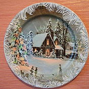 Тарелка новогодняя - Ярмарка Мастеров - ручная работа, handmade