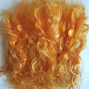 Волосы для кукол ручной работы. Ярмарка Мастеров - ручная работа Локоны,волосы,пряди для кукол- натуральная козья шерсть - рыжие. Handmade.
