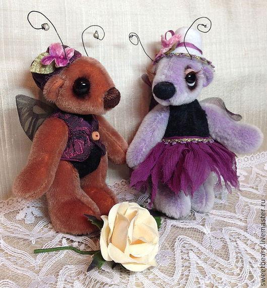 Мишки Тедди ручной работы. Ярмарка Мастеров - ручная работа. Купить Милли и Вилли ( усыновили). Handmade. Мишка, бабочки