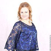 """Одежда ручной работы. Ярмарка Мастеров - ручная работа """"Лунный свет"""" блузка кружево. Handmade."""