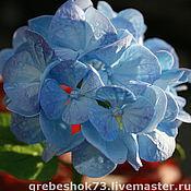 Цветы и флористика ручной работы. Ярмарка Мастеров - ручная работа Голубая гортензия. Handmade.