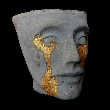 Для дома и интерьера ручной работы. Ярмарка Мастеров - ручная работа Нефертити кашпо из бетона. Handmade.