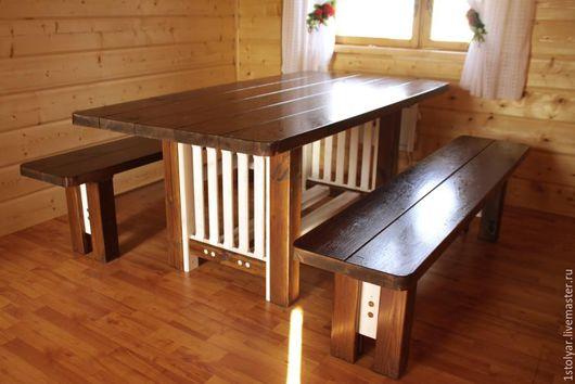 Мебель ручной работы. Ярмарка Мастеров - ручная работа. Купить Комплект мебели №3. Handmade. Стол, стол для дачи