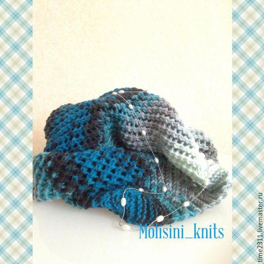 Шарфы и шарфики ручной работы. Ярмарка Мастеров - ручная работа. Купить шарф снуд Тучки небесные. Handmade. Синий